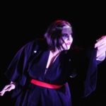 The dancer Entropy from Sweden performs Servamp in the show Dance Obscura at the Uma Obscura 2016 festival.